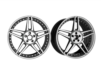 22 Inch Custom Forged Wheels 3 Piece Structure Reverse Mount Five Split Spokes Staggered Wheels for Maserati