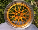 China BSL09/3 piece wheels /step lip/forged wheels/front mount rims/Aluminum 6061 factory