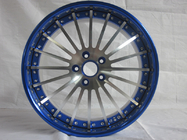 China BLF23/Custom 20 inch 3 piece wheels for BMW/high gloss blue brushed face factory