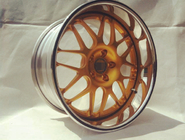 BC09/3 piece wheels for Nissan/deep dish wheels/polish outer lip/Gold wheels/custom rims
