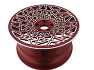 BA39 Red wheels Custom Monoblock Forged Wheels for AUDI DIY design wheels