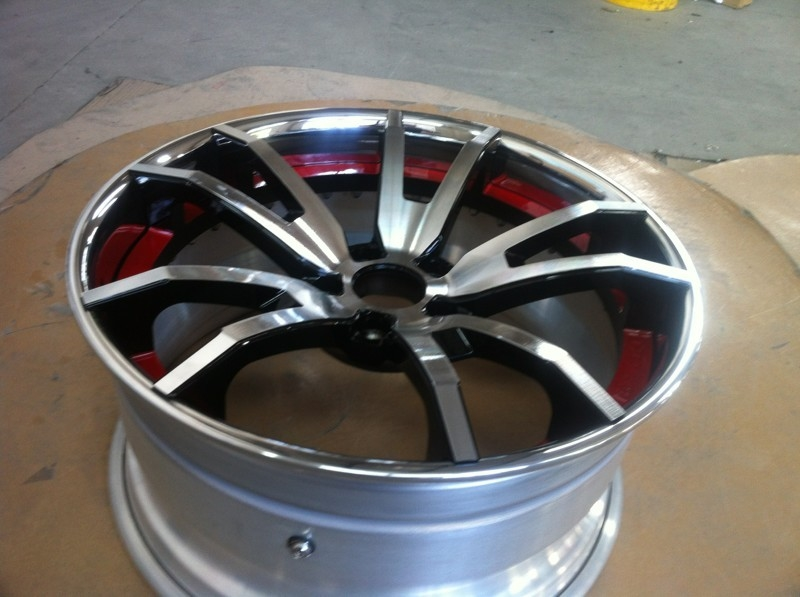 BFL08/3 piece wheels /flat lip/forged wheels/rear mount rims/Aluminum 6061