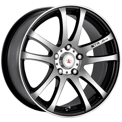 14 Inch Aluminum Wheels Light Weight Aftermarket Rims Black Color with Silver Face for Fiesta,Citroen Sega,Mazida MX3