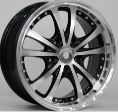 15 Inch Deep Dish Aluminum Wheels Light Weight Aftermarket Rims Black for Honda Fit,Carola