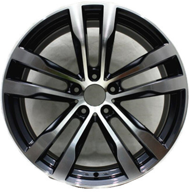 20 Inch Aluminum Alloy Wheels 5x120 Bolt Pattern Aftermarket Rims Black Painted for BMW
