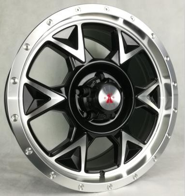 17 Inch Black Off Road Rims with Machined Face 4x4 Aftermarket Truck Wheels Made of Aluminum