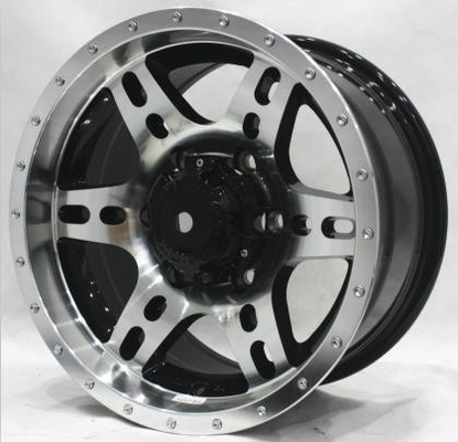 20 Inch Aluminum Truck Rims 4X4 Aftermarket Off Road Wheels Black Painted with Machined Face 5 Lug or 6 Lug