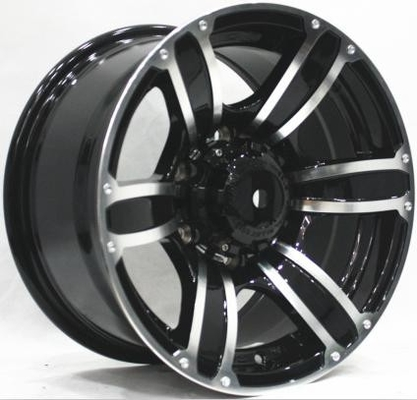 16 Inch Aftermarket Off Road Rims 4x4 Aluminum Black Wheels with Machined Face  for Truck